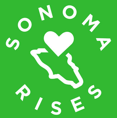 Sonoma Rises heart mental health outline of Sonoma County